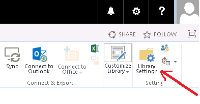 SharePoint Library Settings to configure incoming emails.